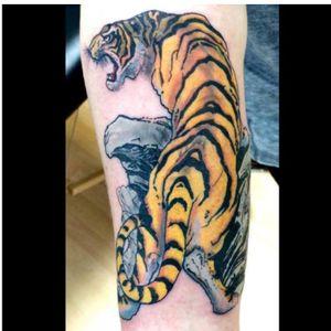Japanese sleeve start tiger   #art #artistic #artattack #alternative #bodyart #bestoftheday  #colourtattoo  #instaart #inkstapic #inkstagram #instatattoo #lovetattoos #tattoo #tattooart #tattooist #tattoolove #tattoolover #tattoolover #tattooarttist #tattooarttist #Japanesetattoo #Japanese #irazumi  #Tiger #tigertattoo