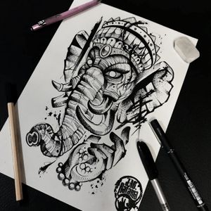 Lord Ganesh! #rataria #tattoo #blackwork #blackworkers #blackworkerssubmission #ttblackink #onlyblackart #theblackmasters #tattooartwork #inkstinct #inkstinctsubmission #superbtattoos #wiilsubmission #stabmegod #tattoos_artwork #ganesh #blackwork #blackworktattoo