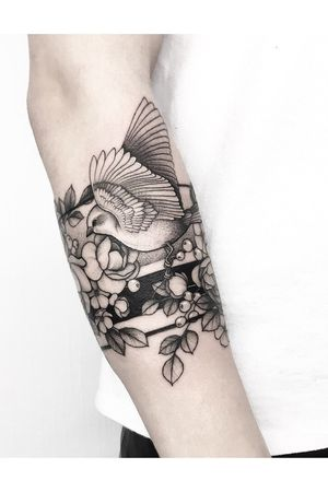 #armband #bird #flowers