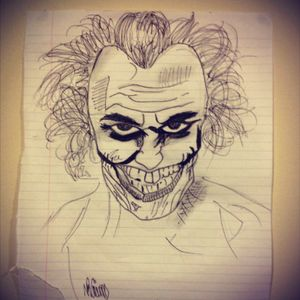 """""""The Joker"""" portrait i drew the other day"""