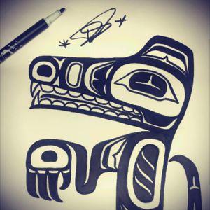 Little sketch from yesterday 😉#maori #crocodile #blackwork #tattoo #tattoosketch #mobileinkstitution #hannover #follow4follow