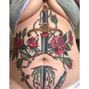 Taken just after last session. Some fresh, some healed. Made by #GREZ at #kingsavetattoo