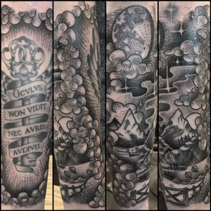 Etching style forearm