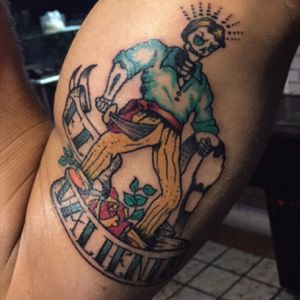 El Valiente #mexicanstyle #color #skeleton #mexicantattoo