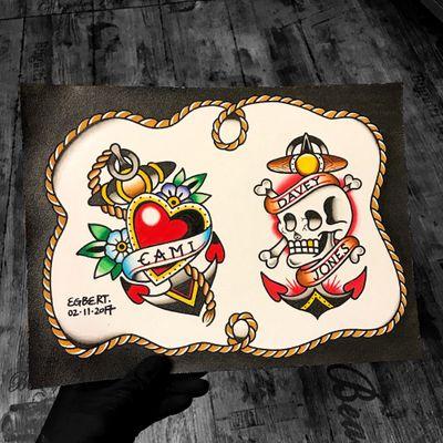 ⚓️❤️⚓️☠️ #anchortattoo #anchor #anchors #skull #skulltattoo #traditionalskull #love #sea #sailor #traditionaltattoo #traditional #tattoo #drawing #art #hk #hktattoo