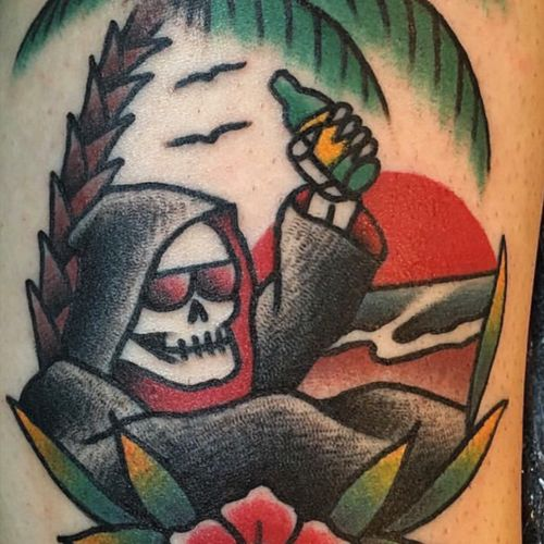 Even #death needs a vacation tattoo by Chris Raft