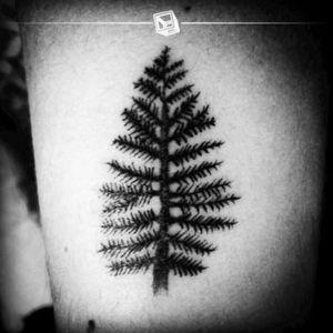 "Tat No.18 ""Little Pine"" #🌲 #tattoo #littletattoo #pine #bylazlodasilva"