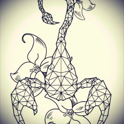 A brand new order and will tattoo it sunday ! My customer cried seeing it 😁 #scorpion #flowers #geometrictattoo #geometry #morydesign #foottattoo