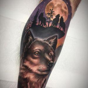 #NikkiSimpson #wolf #wolftattoo #howl #moon #inkmasterseason8