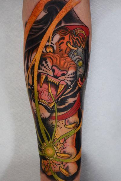 Rawr!!! Cyborg tiger reaper! #cyborg #tiger #reaper #tattoodoambassador #tattoo