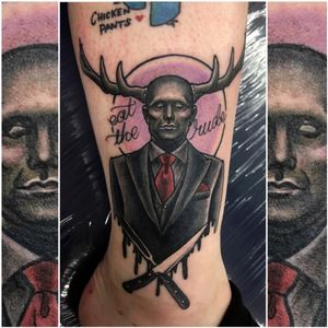 Hannibal cover-up piece for Sharna, so much fun 💜 #hannibal #coverup #tattoocoverup