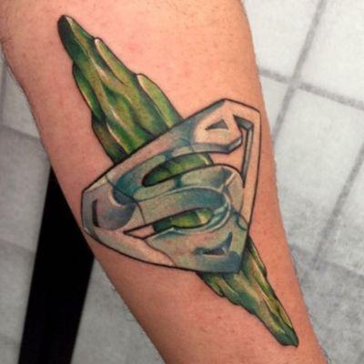 #superman #supermanlogo #kryptonite #welove #tomtattooer @tomtattooer