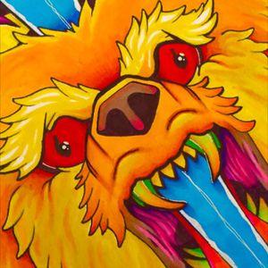 #bear #dagger #color #design #closeup