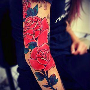 #rose #roses #rosetattoo #flower #flowertattoo #girlwithtattoos #sleeve #tattooed #inked4life