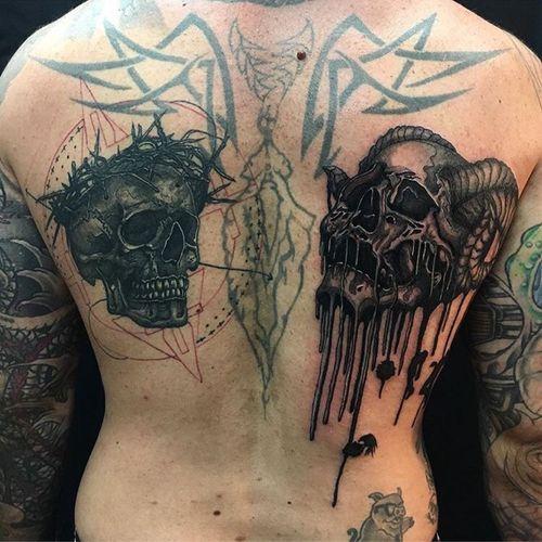 Custom back piece by Skyler Jafferis