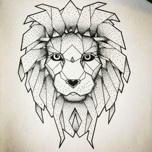 #lion #lion_tattoo #draw #drawing #geomeric #geometriclion #dot #dotwork #dotworkanimal