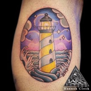 Tattoo by Lark Tattoo artist Hannah Clock #colortattoo #lighthouse #lighthousetattoo #nautical #nauticaltattoo #ocean #oceantattoo #tattoo #tattoos #tat #tats #tatts #tatted #tattedup #tattoist #tattooed #tattoooftheday #inked #inkedup #ink #tattoooftheday #amazingink #bodyart #tattooig #tattoososinstagram #instatats #westbury #larktattoowestbury #larktattoo #larktattoos #longisland