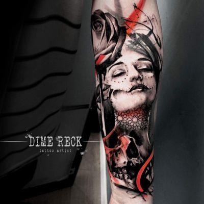 Catrina done in 5hours #tattoo #tattoos #tattooed #tattooart #tattooartist #tattooist #ink #inked #painting #dimereck #artist #art #inked #inkedgirls #catrina #santamuerte