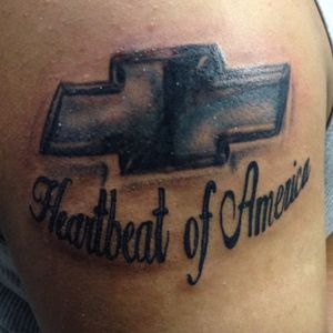 Heartbeat of America Chevy logo #ciscotah2 #chevy #logos #ciscosart #apprentice #lasvegasartist #lasvegastattooartist #ciscosart
