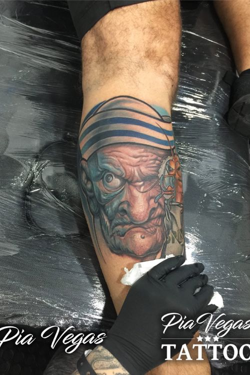 Popeye made at the great Barcelona Tattoo Expo!