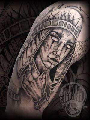 Saiu do forno agora! #rataria #tattoo #blackwork #blackworkers #blackworkerssubmission #ttblackink #onlyblackart #theblackmasters #tattooartwork #inkstinct #inkstinctsubmission #superbtattoos #wiilsubmission #stabmegod #tattoos_artwork #egypttattoo #egyptian #tattoosoftheday
