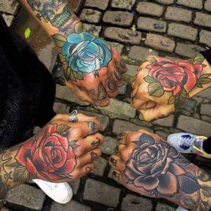 #rosetattoo #blackandwhite #oldschooltattoo #tattoo #tattooedmen