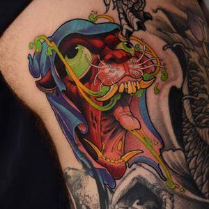 Retard cat on Patrick! #cat #tattoo #tattoodoambassador