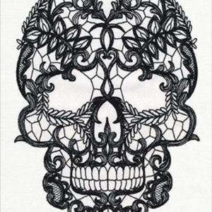 Lace skull for lace arm