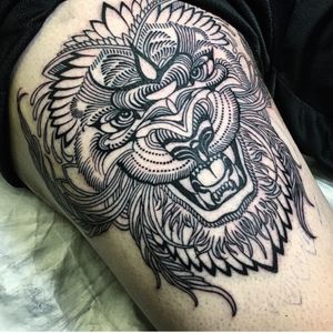 #ryanashleymalarky #lion #linework