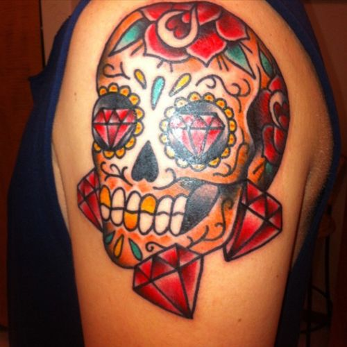 #skull #dayofthedead #sugarskull