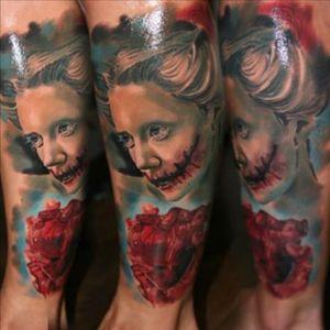#drisdonallyuk #artiuminkuk #zombiegirl #zombietattoo