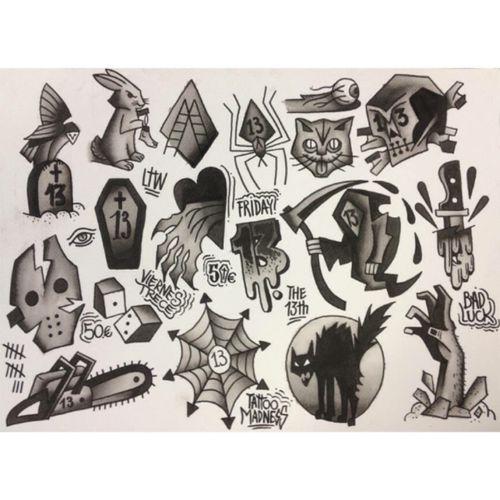 Various individual small tattoos #different #alternative #design #tattoos