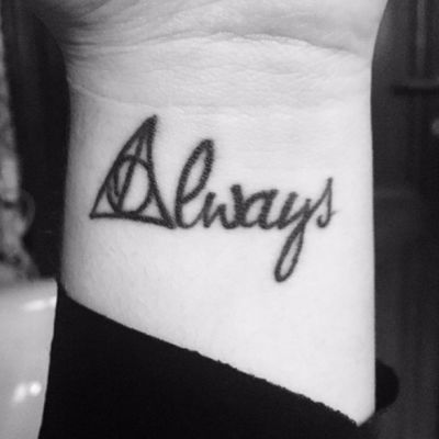 """""""Always"""" tattoo by @angelocadoni #harrypotter#harry#potter#always#snape#lily#blackAndWhite"""