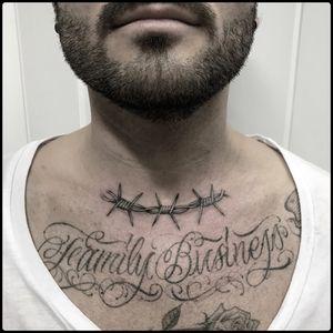 #totemica #tunguska #black #barbed #wire #barbwire #fineline #tattoo #blackworkers #hardtimestattoo