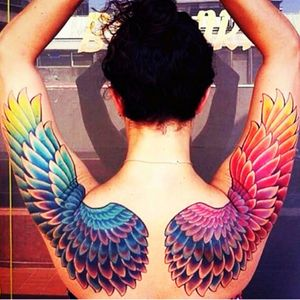 #wings #colorful #rainbow