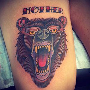 Mother bear #tattoosbyrodrigocanteras #lovehatenewyork #bear