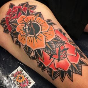 #roses tattoed by Jesus Arencibia