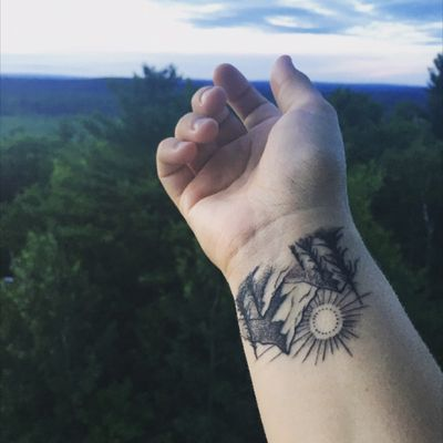 #Wrist #Mountain #Sunrise #Sunset #Trees #Mountainrange