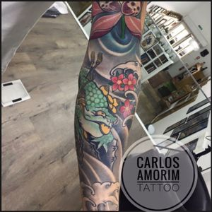 #carlosamorimtattoo #familiaamorimtattoo #sleevetattoo #frogtattoo #japanese #japanesetattoo #orientaltattoo #oriental #Tattoodo #tattooistartmagazine #tattoo2me #tattooart #lisbontattoo #portugal 🇵🇹