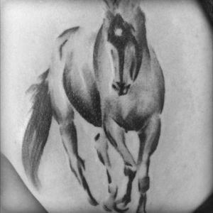 #horse #blackinktattoo #blackandgray