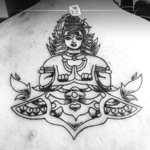 """TAT No.30 """"Cosa"""" #hindu #tattoo #lines #dots #bylazlodasilva"""