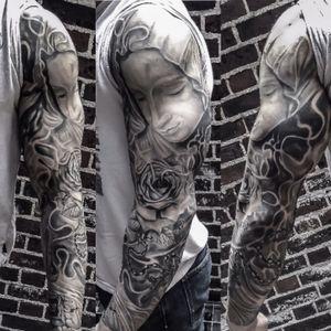 Finally healed 😜 #turcotattooist #turcotattoostudio #turcotattoos #religiousstuff #blackandgray #Tattoodo