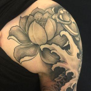 Lotus #lotustattoo #inked #inkvaders #japanesetattoo #japanese #flower #geneve #switzerland #carouge #ink
