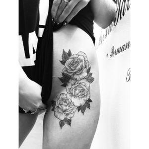 #roses #rosestattoo #rosetattoo #dotwork #dotworktattoo #linework