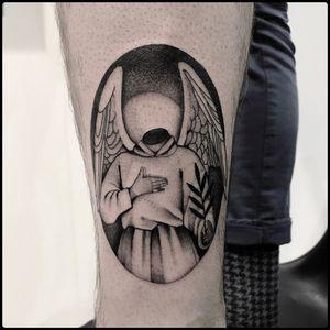 #totemica #tunguska #black #headless #angel #wings #religion #tattoo #blackworkers #bolognatattooexpo #tattooexpobologna
