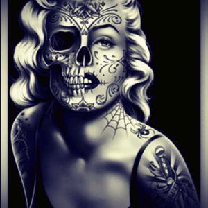 Sugar skull Marilyn Monroe pinup Is my #dreamtattoo