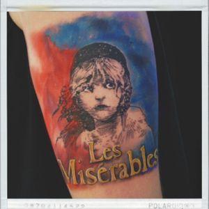#lesmisèrables #colortattoo #tattoo #tattooartist #tattooart #musical #girl
