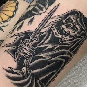 #traditional #blackandgrey #reaper #tattoooftheday