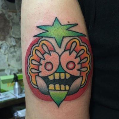 #freedomtattoo #hongkong #tattoo by #guestsrtist #ktattooer #kaylee - #tomato #color #seeds #tomatoseeds #skull