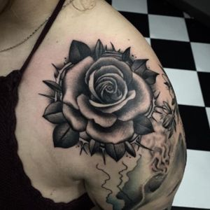 #tattoedgirl #inkedup #inkedlife #neotradicionaltatto #blackandgrey